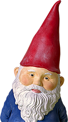 Gnome leaning to the right
